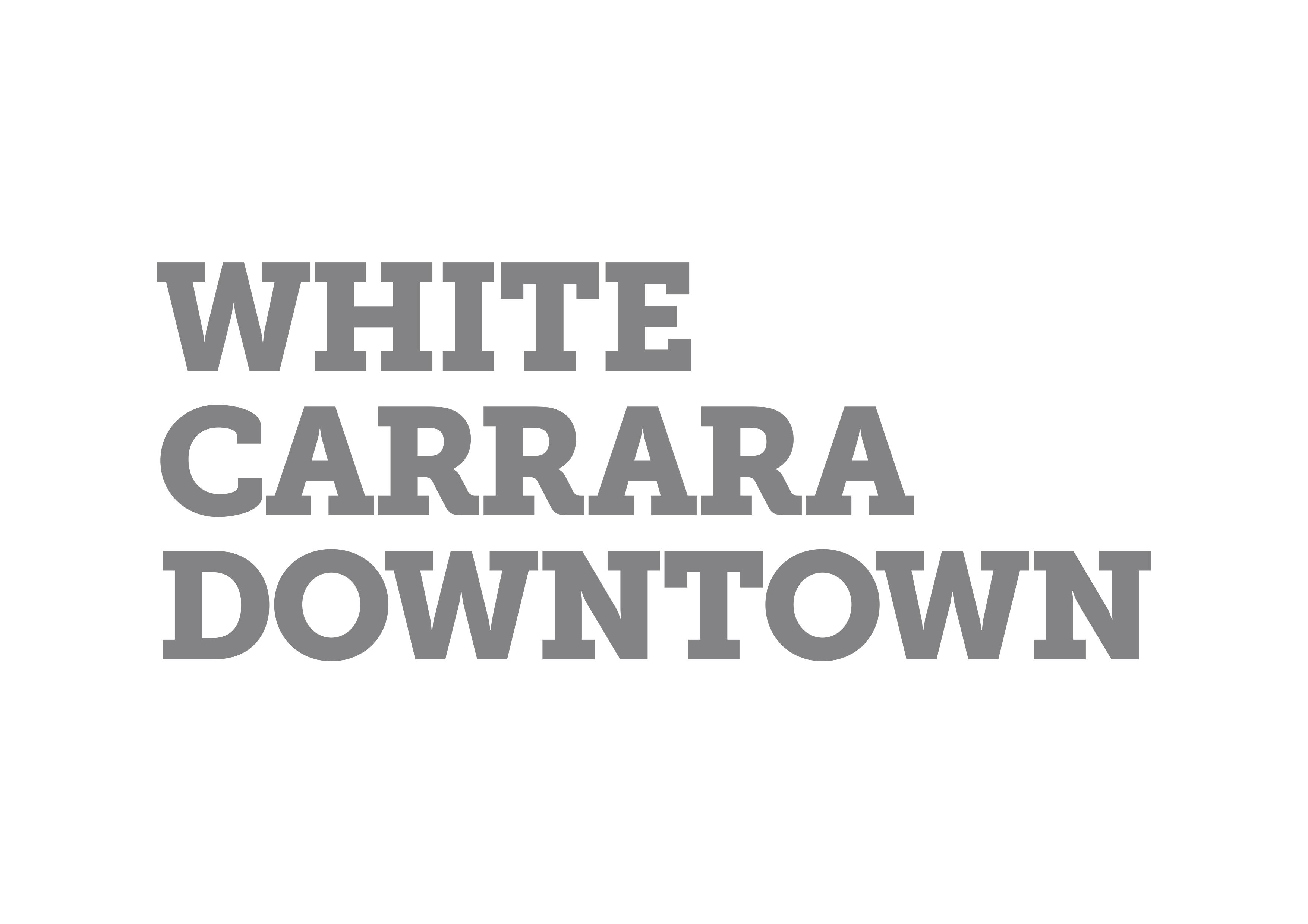 WHITE CARRARA DOWNTOWN: From 14th to 18th June